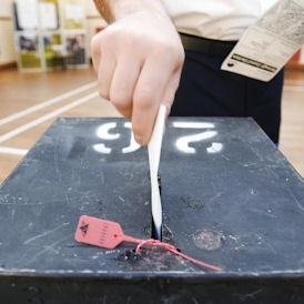 AV referendum: ballot box ready for 5 May vote. (Getty)