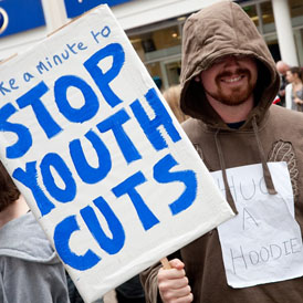 Youth centres in Oxfordshire, in Prime Minister David Cameron's constituency, are facing funding cuts