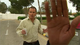 Channel 4 News Foreign Affairs Correspondent Jonathan Miller reports on the challenges of broadcasting stories from the parts of Libya still under Gaddafi's control.