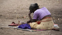 A Tamil woman at Manik Farm refugee camp, Sri Lanka, 2009 (Reuters)