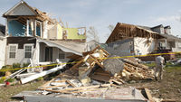 Severely damaged homes are seen along Serendipity Road in Raleigh, North Carolina April 18, 2011 after the neighborhood was devastated during a tornado two days earlier on April 16 (Reuters)