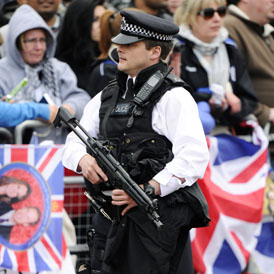 Scotland Yard said they had made no arrests on Friday and had received no reports of serious disorder as 5,000 officers mounted the biggest security operation seen in central London for a generation