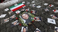 Pictures of Iranian student Neda Agha-Soltan, who was killed during anti-government protests. (Reuters)