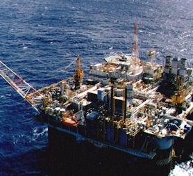 Petrobras Oil platform is seen at Guabanara bay in Rio de Janeiro. (Reuters)
