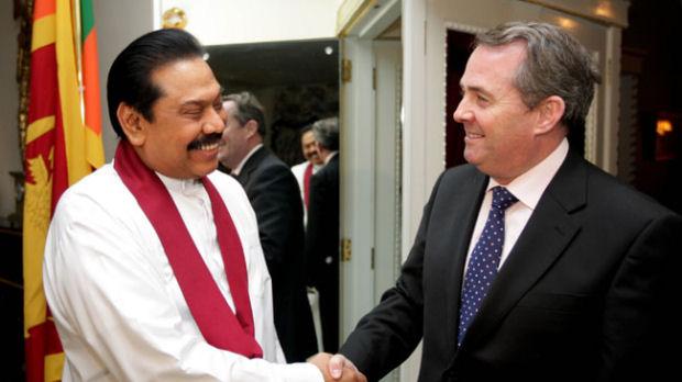 President Rajapakshe met Defence Secretary Liam Fox (Lanka magazine, Sudath Silva)