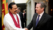 President Rajapakshe meeting with Defence Secretary Liam Fox.