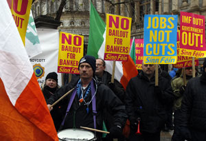 Ireland spending cuts unveiled amid bailout