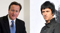 David Cameron and former Smiths guitarist Johnny Marr. (Getty)