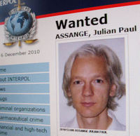 Wikileaks founder Julian Assange who was released on bail earlier this afternoon