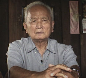 Former Khmer Rouge leader Nuon Chea, as seen in the documentary 'Enemies of the People'