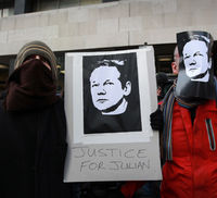 WikiLeaks protests (Getty)
