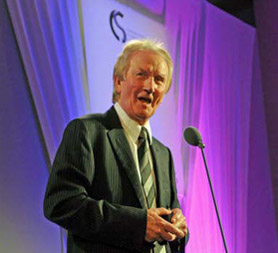 The composer of the Channel 4 News theme Alan Hawkshaw