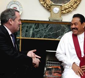 Dr Liam Fox and Mahinda Rajapaksa