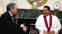 Dr Liam Fox and Mahinda Rajapaksa