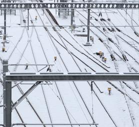 UK weather: snowy rail tracks as train passengers face problems. (Reuters)
