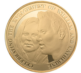 William and Kate engagement coin (Royal Mint)