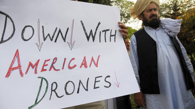 Pakistanis protest against alleged CIA drone strikes (Reuters)