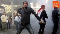LIVE BLOG: protesters in Tahrir Square, Cairo.