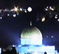 Glowing ball of light in Jerusalem