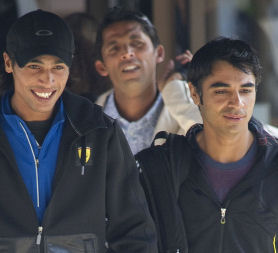 Pakistani cricketers Mohammad Aamer, Salman Butt and Mohammad Asif are to be charged with cheating (Getty)