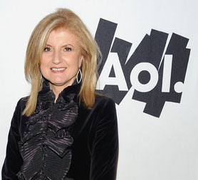 Getting to know you - Arianna Huffington with AOL at the weekend (Getty)