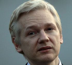 WikiLeaks founder Julian Assange at his extradition hearing. (Reuters)