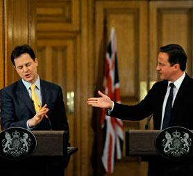 Cameron and Clegg clash over AV voting system