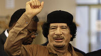 Libyan leader Gaddafi; as more protesters are killed, Sir Richard Dalton speaks to Channel 4 News (Image: Getty)