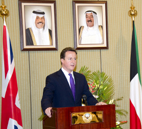 Prime Minister David Cameron in Kuwait (Reuters)