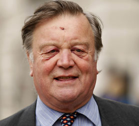 Ken Clarke - sporting injuries from a recent fall (Getty)