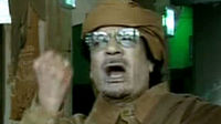 Colonel Muammar Gaddafi on Libyan TV (Reuters)