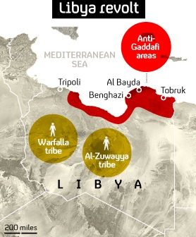 Graphic: who is in control in Libya?