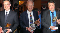 Award-winners: Gary Gibbon, Jon Snow and Inigo Gilmore