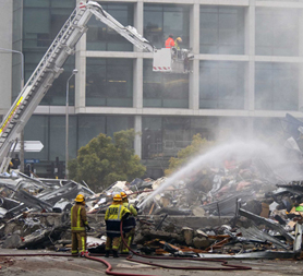CTV Building in Christchurch where over 100 could have perished (reuters)