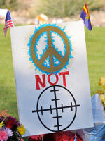 Arizona shootings: posters show the controversial