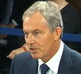 Tony Blair at the Iraq Inquiry (Reuters)