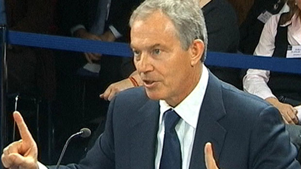 Tony Blair at the Iraq Inquiry (Reuters)