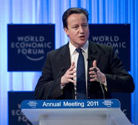 David Cameron at the World Economic Forum in Davos (Getty)