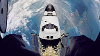 Shuttle over earth through a fisheye camera - Reuters