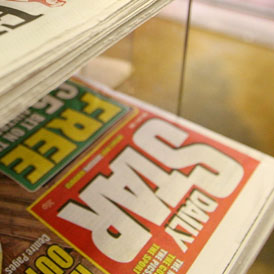 Police investigating allegations of phone hacking by tabloid journalists are now searching the offices of the Daily Star, a police source said.
