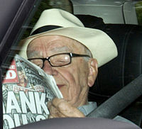 Rupert Murdoch arrives in the UK, facing calls to drop his BSkyB bid (Image: Getty)