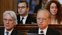 Les Hinton, Andy Coulson, Rupert Murdoch and Rebekah Wade (Getty)