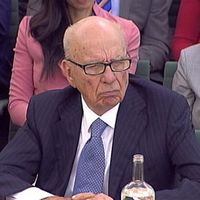 Rupert Murdoch and his son James are being questoned by MPs on the Culture Media and Sport Committee about the phone-hacking controversy at News International (Getty)