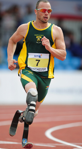 Blade Runner Oscar Pistorius has qualified for the London 2012 Olympics (Getty)