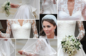 Kate's royal wedding gown goes on display