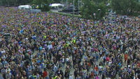 At least 100,000 people held anti-violence rallies in Oslo.