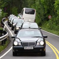 Hearses in Norway after the Utoya shooting and Oslo bomb (Reuters)