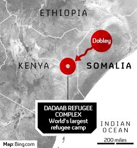 Somalia famine map