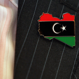 National Transitional Council pin badge. (Getty)