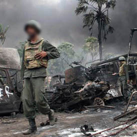 Sri Lankan soldiers. (Reuters)